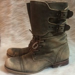 Matisse Lance Distressed Leather Combat Boot